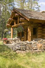 Decorative Landscaping Small Log Cabin Exterior Rustic With Entry Decorative Landscaping