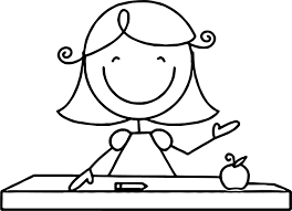 english teacher coloring page wecoloringpage