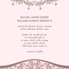 Marriage Invitation Sample Wedding Invitations Templates Word Pacq Co