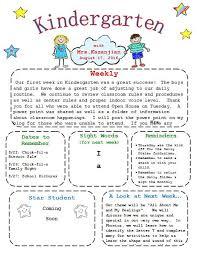 kindergarten newsletter best 25 kindergarten newsletter ideas on