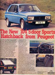 peugeot cars 1980 peugeot 104 vintage car ads