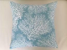 coastal cushions coastal pillows beach decor ocean blue coral coastal cushions coastal pillows beach decor ocean blue coral cushion covers spa green pillows seafoam