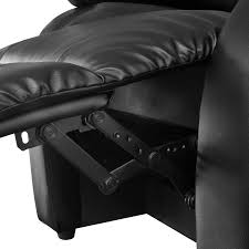 Leather Electric Recliner Chair Black Electric Massage Recliner Chair Artificial Leather Black