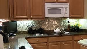 fresh metallic backsplash tiles peel stick home design image