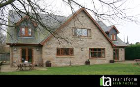 existing u2013 large stone dormer bungalow with small tiled dormers