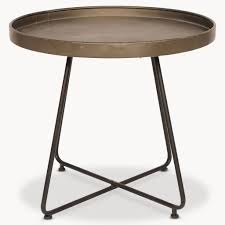 Outdoor Metal Side Table Black Metal Tray Side Table U2013 Collective Home Store