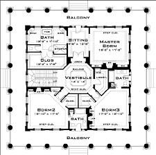 southern plantation floor plans 2nd floor revival plantation house blueprint home