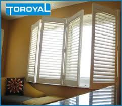Plastic Plantation Blinds China Interior Window Shutters Tilt Rod Waterproof Fauxwood