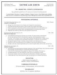 Clinical Research Coordinator Resume Sample by Special Event Planner Resume With Event Planner Resume Event