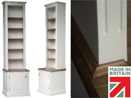 100 solid wood bookcase 8ft tall white painted u0026 waxed alcove