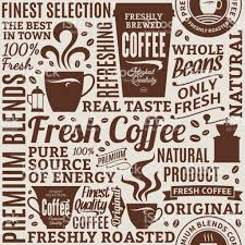 coffee shop background design typographic vector coffee shop seamless pattern or background stock