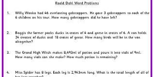 roald dahl word problems classroom secrets