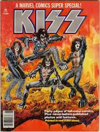 Blood Gang Flag In 1977 Marvel Comics Published Super Special Kiss Full Color