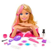 barbie color u0026 crimp styling head target