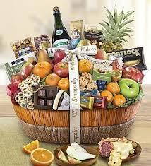 sympathy food baskets sympathy gift baskets food 1 800 gofruit