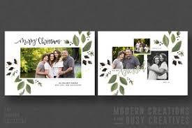 christmas card marbled garland card templates creative market