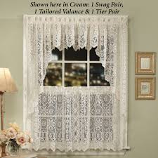 Sears Window Treatments Clearance by Hopewell Lace Tier Window Treatment