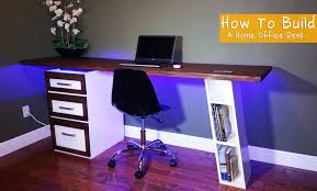 Office Desk Diy How To Build A Modern Desk For Your Home Office