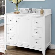 Shaker Style Bathroom Cabinets by White Shaker Bathroom Vanity 42 42