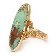 art nouveau ring w turquoise gemstone wixon jewelers