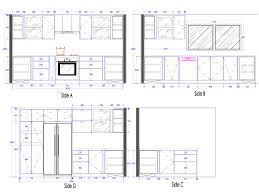 Autocad Kitchen Cabinet Blocks Kitchen Cabinet Details Drawing Monsterlune