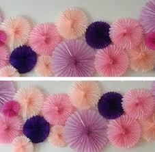 tissue paper fans 40cm 16 inch tissue paper fans flowers pom poms balls lanterns