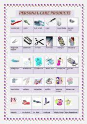 english worksheet personal care products self help pinterest