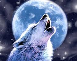 wolf howling at moon etsy