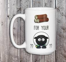 wood for your sheep settlers of catan humor funny coffee mug