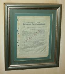 Letter Of Credit In Australia other antiques collectables framed specimen letter of credit