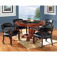 steve silver 5 piece tournament dining game table set with caster steve silver 5 piece tournament dining game table set with caster chairs cherry hayneedle