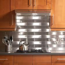 kitchen backsplash stainless backsplash behind range custom