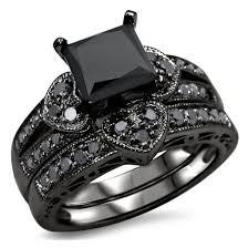 black cubic zirconia engagement rings jewels ring set evolees design bridal ring set 1 57