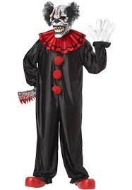halloween costume with mask last laugh clown costume with motion mask escapade uk