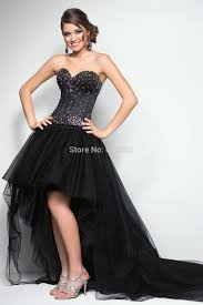 high quality black high low prom dress buy cheap black high low
