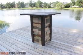 Reclaimed Wood Bistro Table Inspiring Diy Outdoor Bistro Table Modern Reclaimed Pub Table Diy