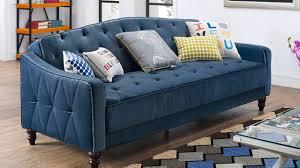 9 by novogratz vintage tufted sofa sleeper ii youtube