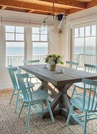 kitchen rustic wood tables coastal themed kitchens beach back