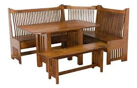 mission style dining room furniture mission breakfast corner nook set from dutchcrafters amish furniture
