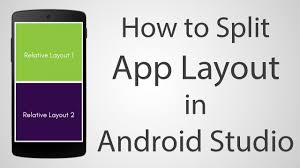 tutorial android xml how to use split layout in android app android studio 2 2 2