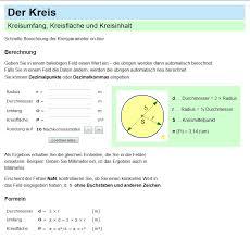 fläche kreis formel kreis umfang kreisfläche formel und kreisberechnung