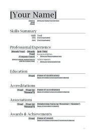 Resume Templates For Word 2007 by Free Resume Templates For Microsoft Word 2007 Medicina