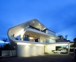 world of architecture modern mansion defined by curves and