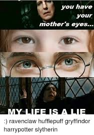 Lie Memes - you have your mother s eyes my life is a lie ravenclaw hufflepuff