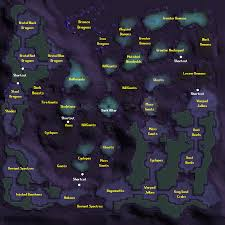 World Map Runescape 2007 the catacombs of kourend 2007scape