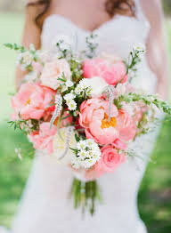 wedding flowers pink pink peony wedding bouquet with wildflowers deer pearl flowers