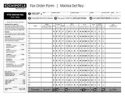 31 chipotle mexican grill fax order form i choose this exle