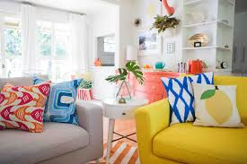 shop look a colorful mid century modern living room