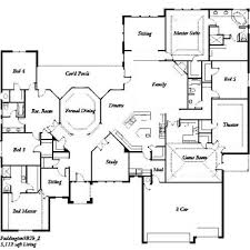 five bedroom floor plans one story five bedroom home plans home plans homepw72132 4 457
