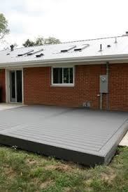 grey trex deck housetweaking porch pinterest decking gray